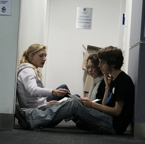 A picture from AYCC Power Shift 2010 Adelaide. I'm with two other climate activists, planning a speech on climate activism.