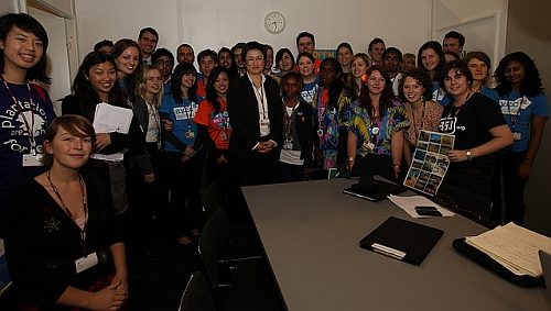 A meeting in Copenhagen between Minister Penny Wong and members of the AYCC's Youth Delegation.