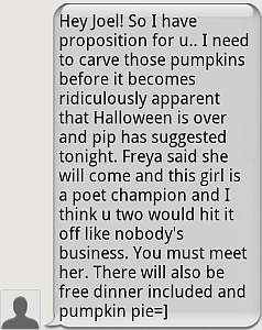 a text inviting me to meet Freya, the later winner of the victorian state final of the australian poetry slam