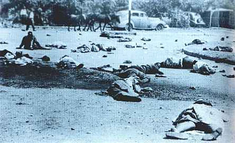 "A picture of casualties of the Sharpeville Massacre, as described in Nelson Mandela's ""Long walk to Freedom"""