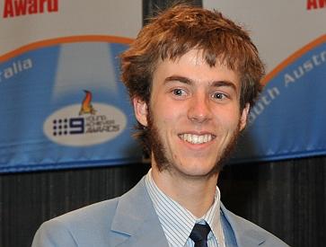 Flinders Ports Environment Award, SA Young Achievers Award 2010, Peter Cheers with Joel Dignam
