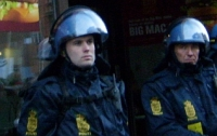 a picture of police wearing riot gear