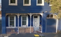 the blue house from faraday street